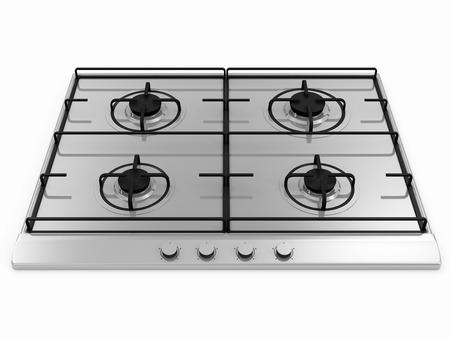 estufa: Cocina de gas aisladas sobre fondo blanco