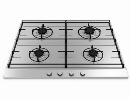 cooktop: Gas stove isolated on white background