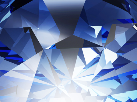 facet: Abstract Blue Crystal Facet Background