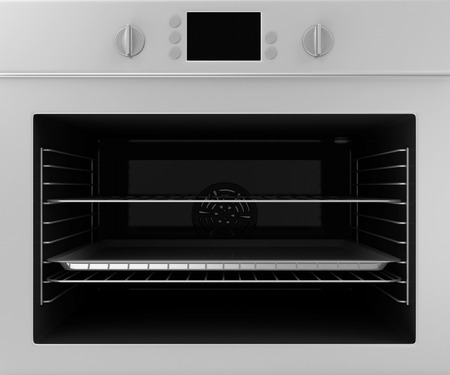cooktop: Close-up of oven isolated on white background