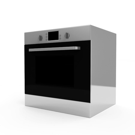 cooktop: Oven isolated on white background Stock Photo