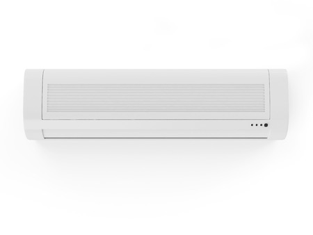 acclimatization: Air conditioner isolated on white background Stock Photo