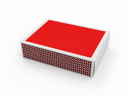 Red Matchbox isolated on white background photo