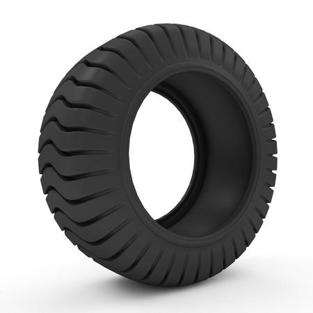 Big Heavy Tire isolated on white background photo