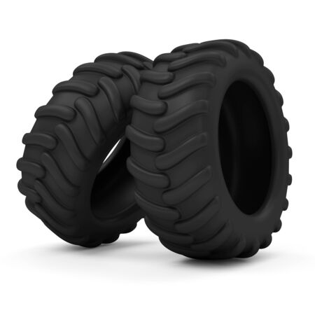 Tractor Tires isolated on white background photo