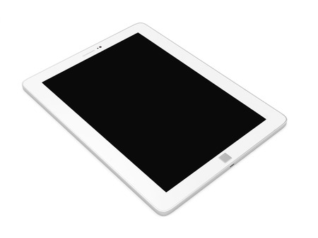 Modern Tablet PC with Blank Screen isolated on white background photo