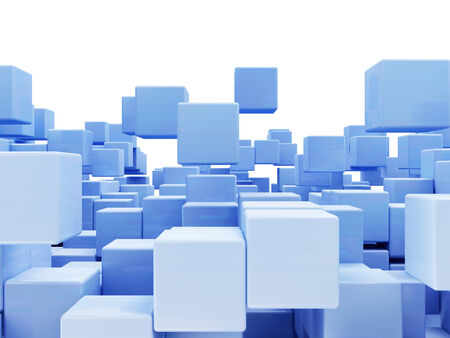 infinitely: Abstract Cubes Background isolated on white background with place for Your text