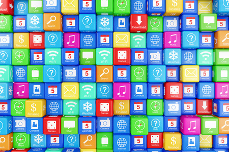 Abstract Application Icons Background photo