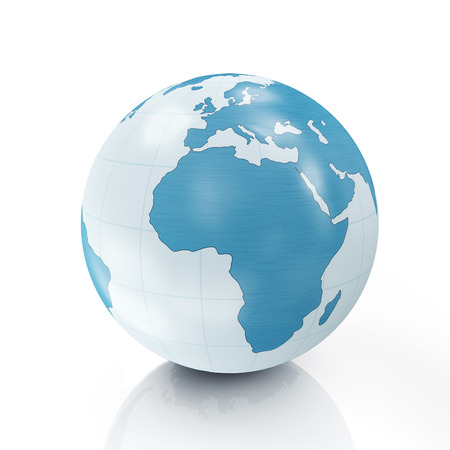 Style Earth Globe isolated on white background photo
