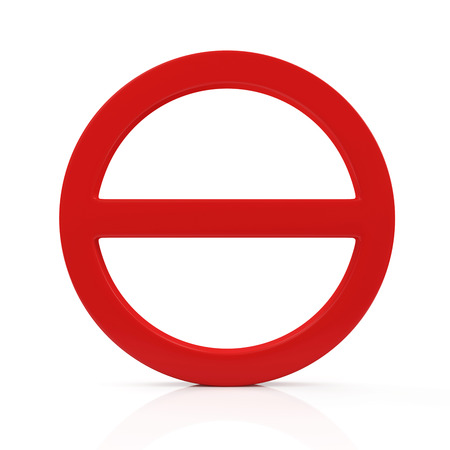Red Forbidden Symbol isolated on white background