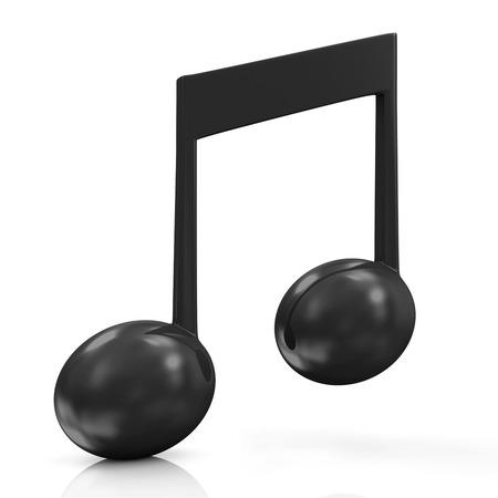 Music Note isolated on white background photo
