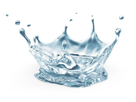 Agua Crown Splash aislados en fondo blanco photo