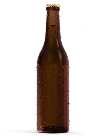 Bottle of Beer isolated on white background photo