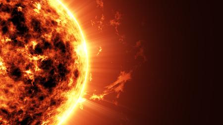 Abstracte Illustratie van een een Big Sun Star in Ruimte met plaats voor uw tekst