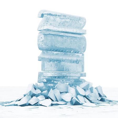 froze: Abstract Illustration of New Year 2015 Breaking Through from Ice Floor Stock Photo