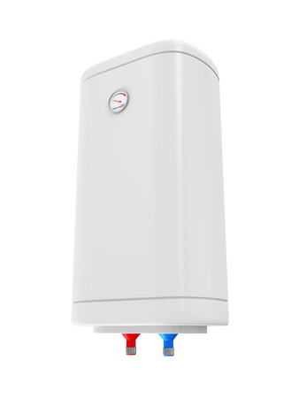 Modern Electric Water Heater isolated on white background photo