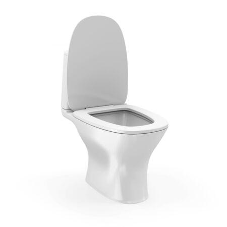 watercloset: Modern Ceramic Toilet isolated on white background