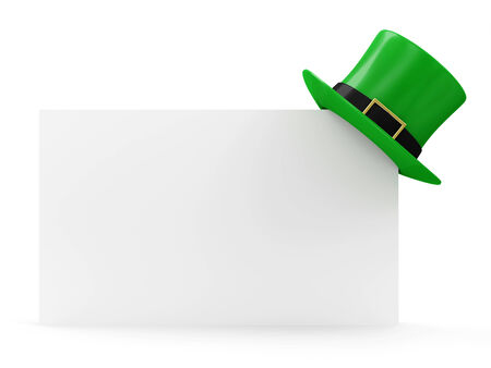 Green Leprechaun Hat for traditional Irish holiday St. Patrick\ photo
