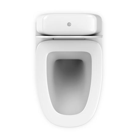 wc: Moderne Keramik WC isoliert auf weiß. Top View