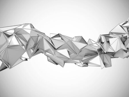 rumpled: Abstract Metallic Rumpled Triangular Wave Geometry