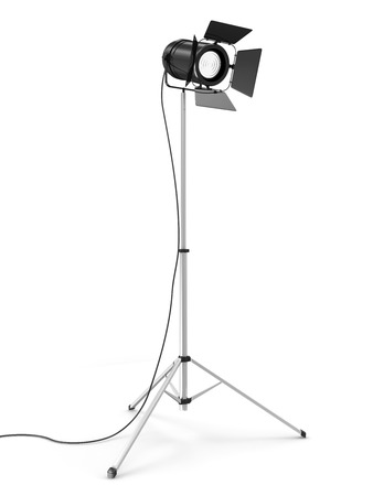 power projection: Modern Studio Spotlight isolated on white background
