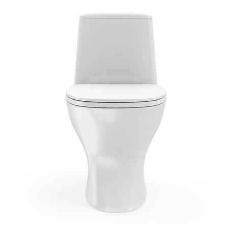 Modern Ceramic Toilet isolated on white background photo