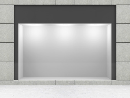 vitrine: Modern Empty Store Front with Big Window