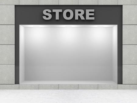 큰 창 현대 빈 상점 전면 스톡 콘텐츠