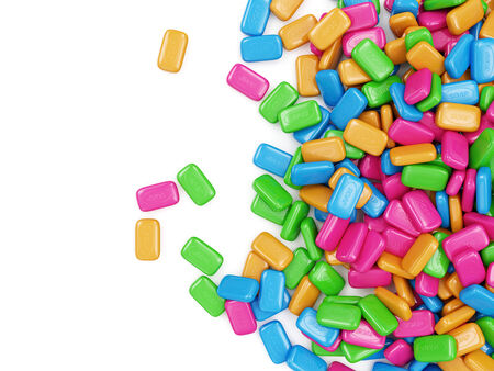 Heap of Colorful Soap isolated on white background photo