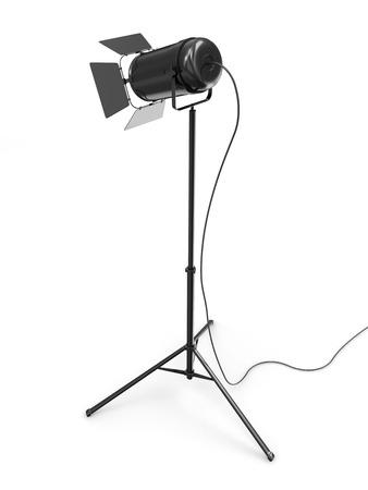 Modern Studio Spotlight isolated on white background