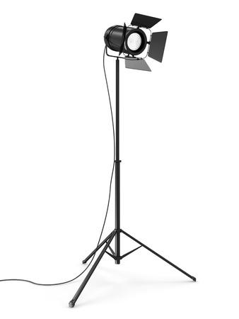 spot lit: Modern Studio Spotlight isolated on white background
