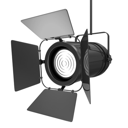 power projection: Modern Spotlight isolated on white background