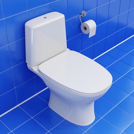 watercloset: Modern Ceramic Toilet Stock Photo