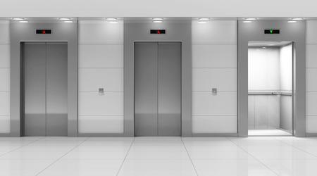 lift gate: Modern Elevator Hall Interior