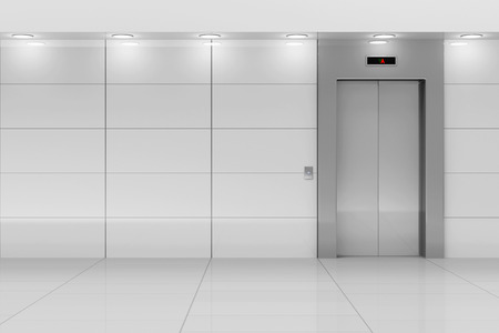 office buttons: Modern Elevator Hall Interior