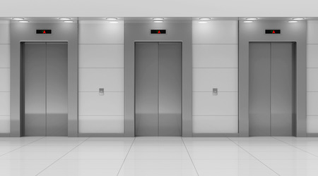 illuminating: Modern Elevator Hall Interior