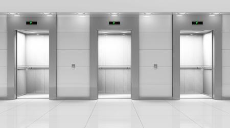 現代エレベーター ホールのインテリア 写真素材 - 34208107