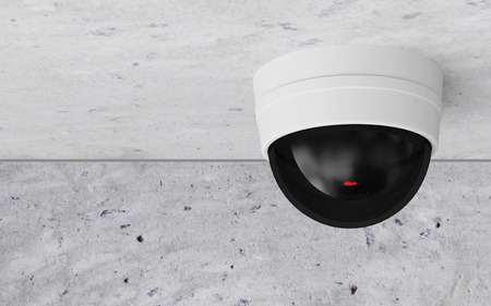 Modern CCTV Security Camera on the Ceiling photo