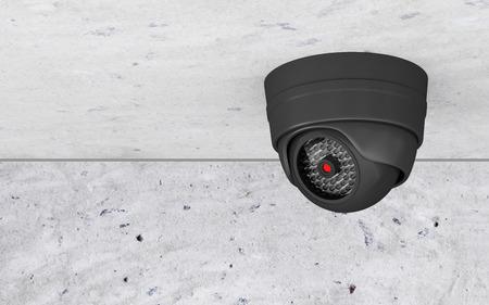 天井に現代のセキュリティ カメラ