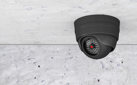 Modern Security Camera on the Ceiling