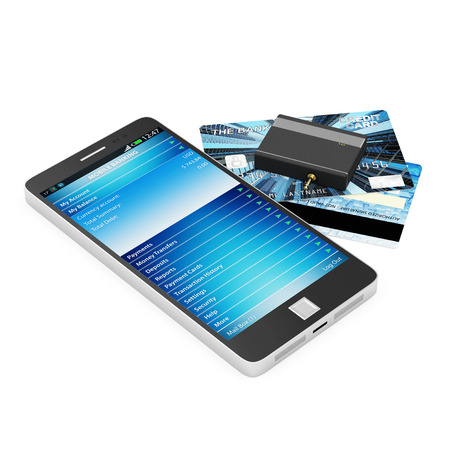 business credit application: Mobile Banking and Payment Concept.