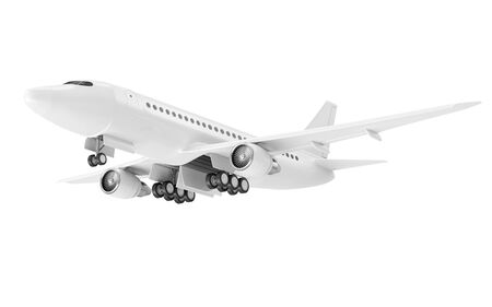 Modern Airplane isolated on white background.  photo