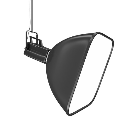 tubus: Modern Photo Studio Lighting Equipment isolated on white background