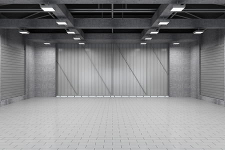 密室の近代的な倉庫 3 D インテリア 写真素材 - 37247931