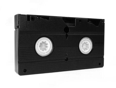videocassette: Cinta de video aislada en el fondo blanco Foto de archivo
