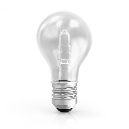 metal light bulb icon: Modern Light Bulb isolated on white background