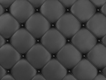 cushioning: Close-up View of Black Leather Upholstery Background Stock Photo