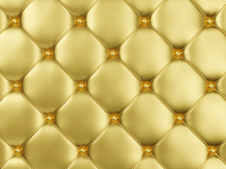 Closeup View of Golden Leather Upholstery Background