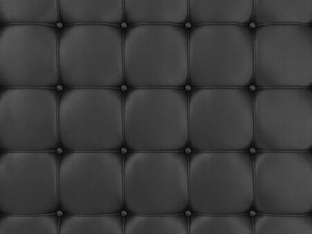 cushioning: Closeup View of Black Leather Upholstery Background