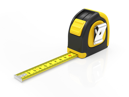 Measure Tape isolated on white background Foto de archivo